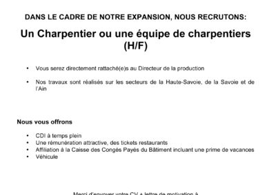 ANNONCE  CHARPENTIER