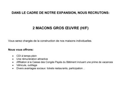 ANNONCE MACONS